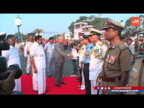 69th Republic Day Celebrations 2018 Governor Banwarilal Purohit Hoists National Flag in Tamil Nadu