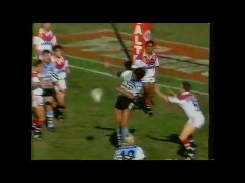 NZ TV1 Sports news August 1995 - North Harbour vs Auckland and Cronulla vs Easts
