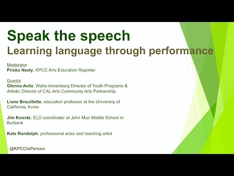 Speak the speech: Learning language through performance