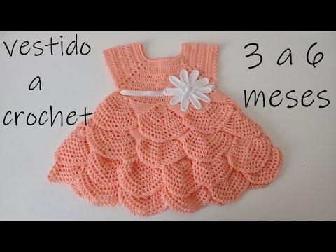 Como Tejer Un Vestido Para Bebe A Ganchillo Olanes Crochet