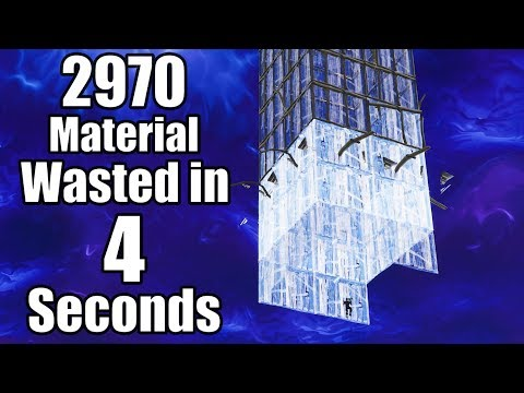 How To Waste 2970 Material In 4 Seconds - World Record - Fortnite Battle Royale