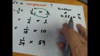 What`s a reciprocal of a number?
