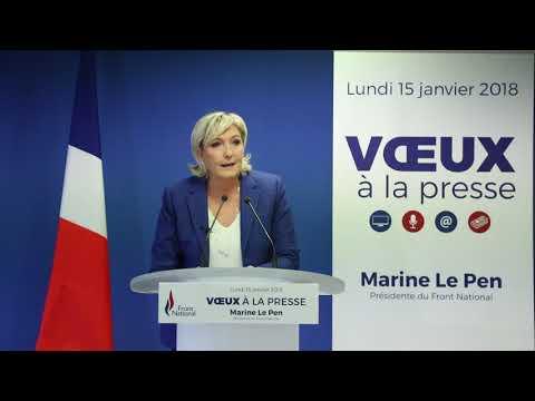Voeux de Marine Le Pen à la presse