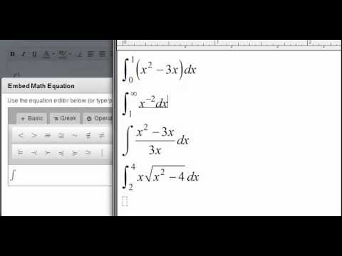 How To Type Integral Notation In The Instructure Canvas Equation