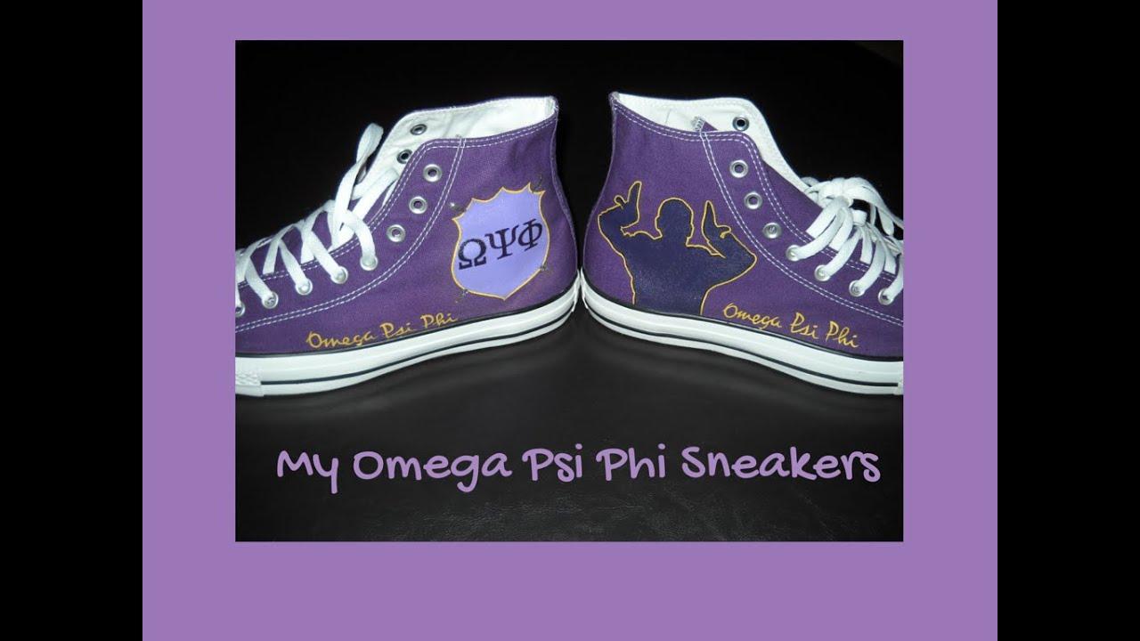 5475544167f9 Painting omega psi phi shoes time lapse youtube jpg 1024x768 Omega psi phi  shoes