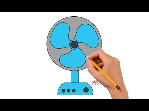 How To Draw a Table Fan Easy Step By Step For Kids