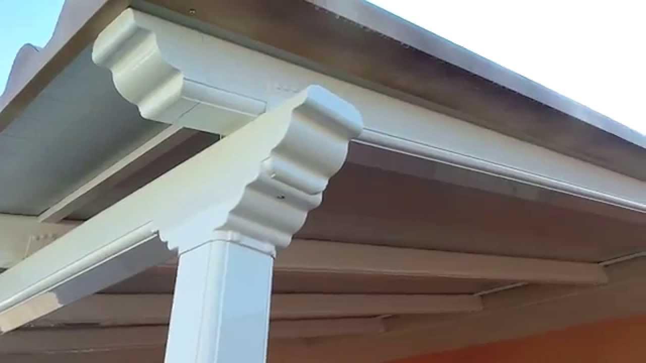 Pergola de aluminio lacada en blanco con cubierta - Cubiertas imitacion teja ...