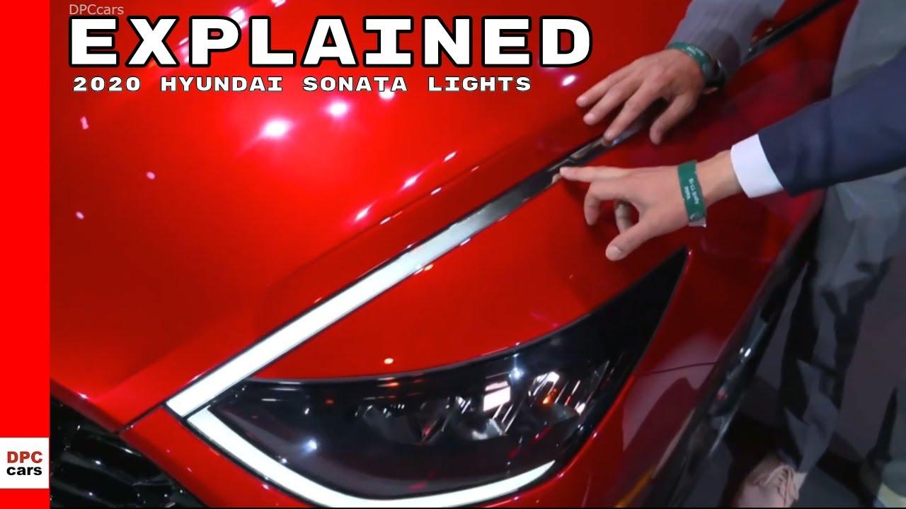 2020 Hyundai Sonata Led Daytime Running Head Lights Youtube