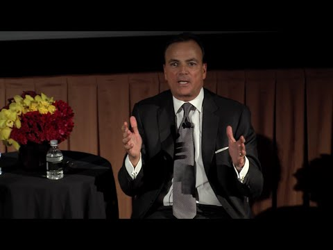 Real estate developer and USC Trustee Rick Caruso discussed the future of LA as 'The Great American City. The event was part of the Dean's Speaker Series presented by the USC Price Athenian Society.
