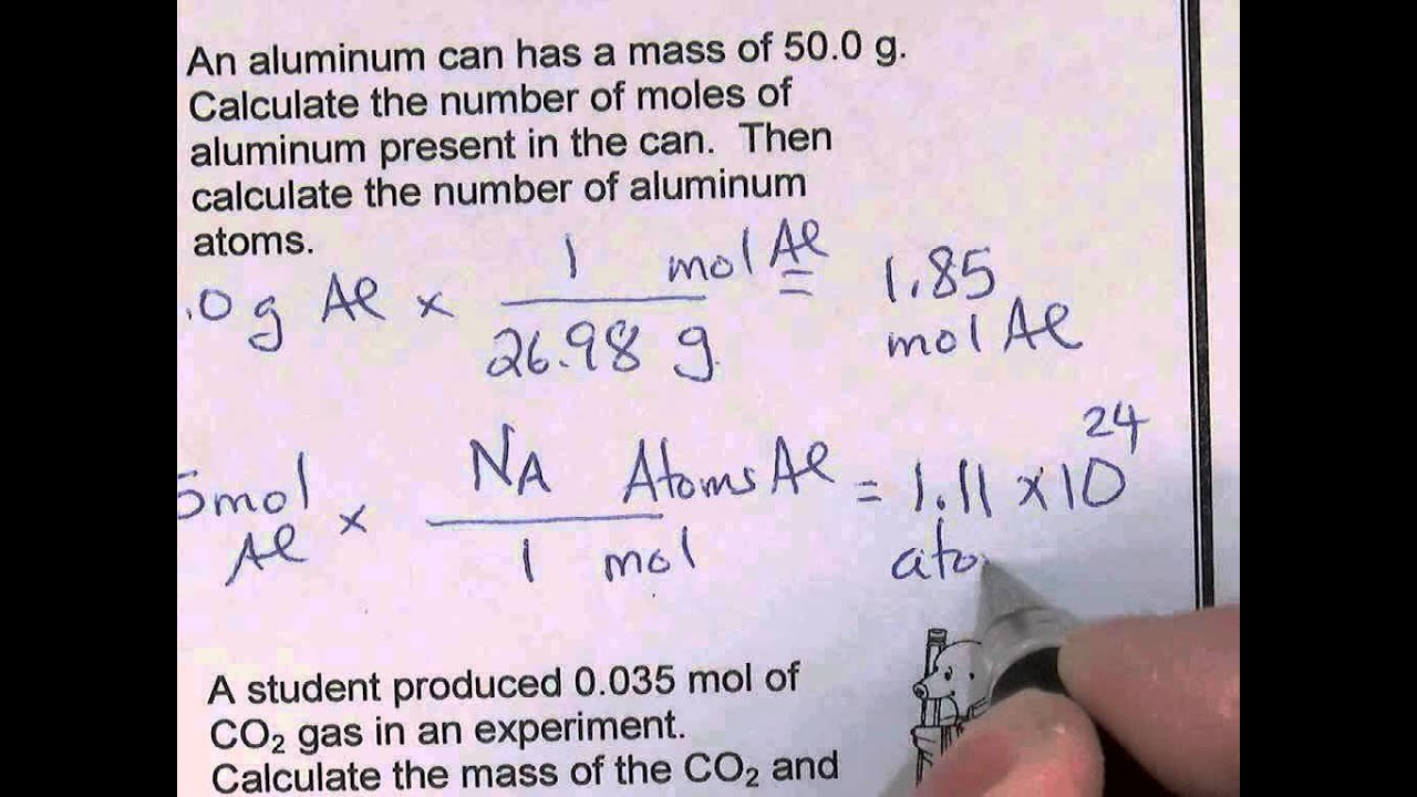 Mole Worksheet Selected Answers YouTube – Mole Problems Chemistry Worksheet
