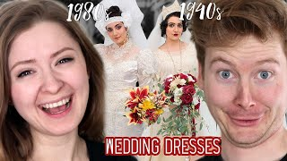 Married Couple Reacts to Wedding Dresses Through History by Safiya Nygaard