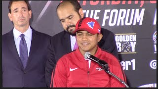 'ROMAN GONZALES AIMS TO BECOME 4x WORLD CHAMPION' PRESS CONFERENCE SPEECH / GONZALES v CUADRAS
