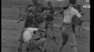 1942 Chinese Military - Sword, Bayonet & Group Bayonet Fencing -China