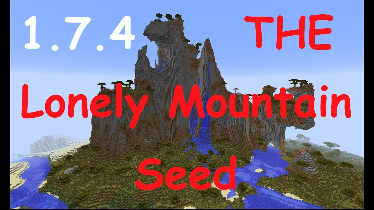 Minecraft 179 Lonely Mountain Seed With Town At Base