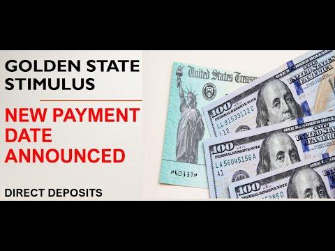 Stimulus News Alert- California Golden State Stimulus Payment Release Date Announced!