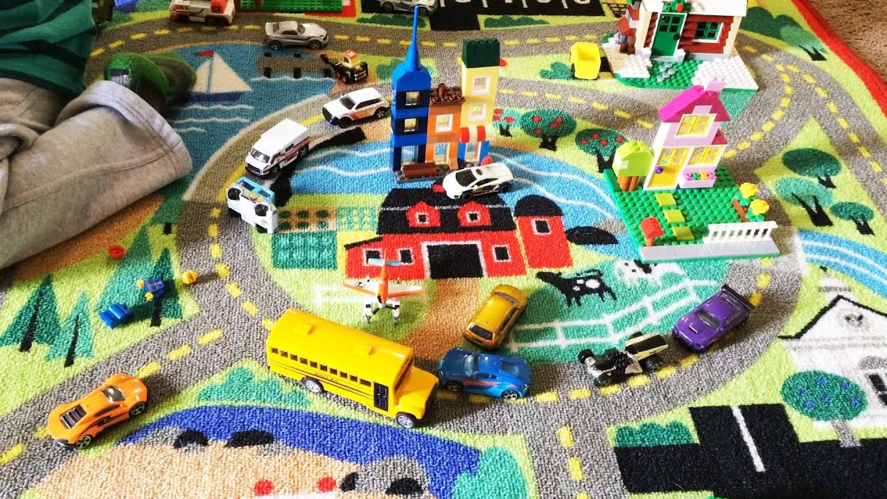 Toy Trucks And Cars Playtime Unboxing Mellisa Doug Road Rug