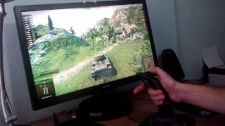 Бой на танке КВ с самолётным джойстиком и программой World of Joysticks Emulator