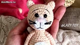 Амигуруми: схема Котик. Игрушки вязаные крючком - Free crochet patterns.