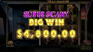 Halloween Slot Scary BIG WIN Game Play by Microgaming