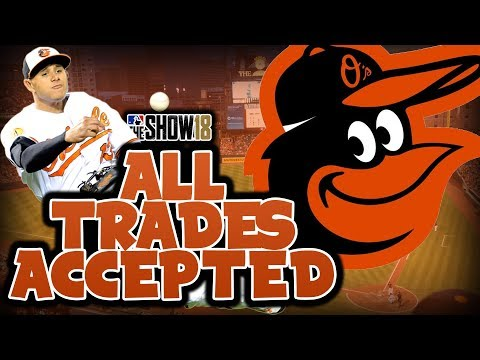 ALL TRADES ACCEPTED WITH THE BALTIMORE ORIOLES | MLB The Show 18 Franchise Mode Challenge