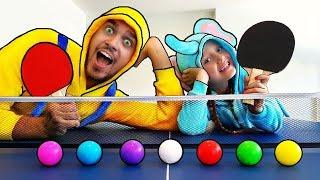 Aprende colores ping pong tennis bolas - bebé rimas para los niños