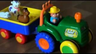 Веселый трактор с животными