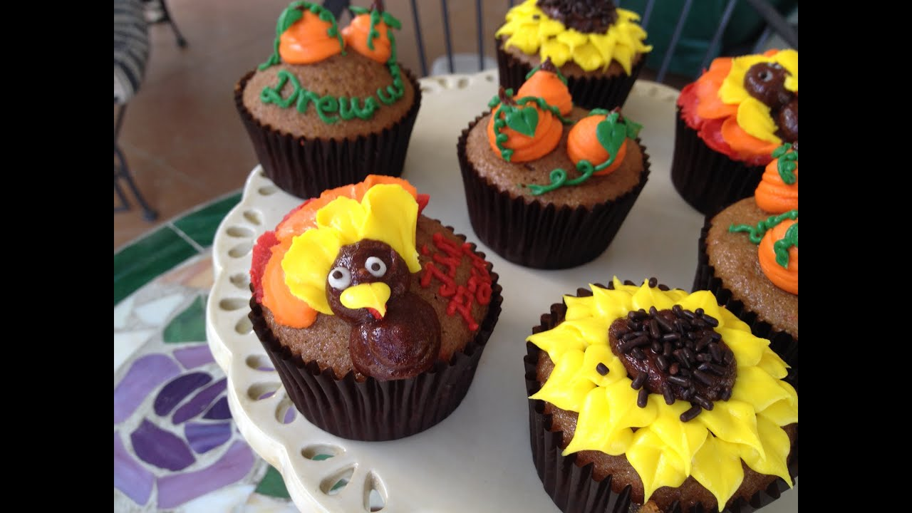 How To Make Easy Thanksgiving Cupcakes Kid Friendly