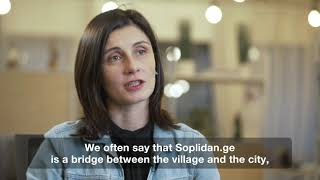 Agricultural products website Soplidan.ge for Women's Empowerment in Georgia