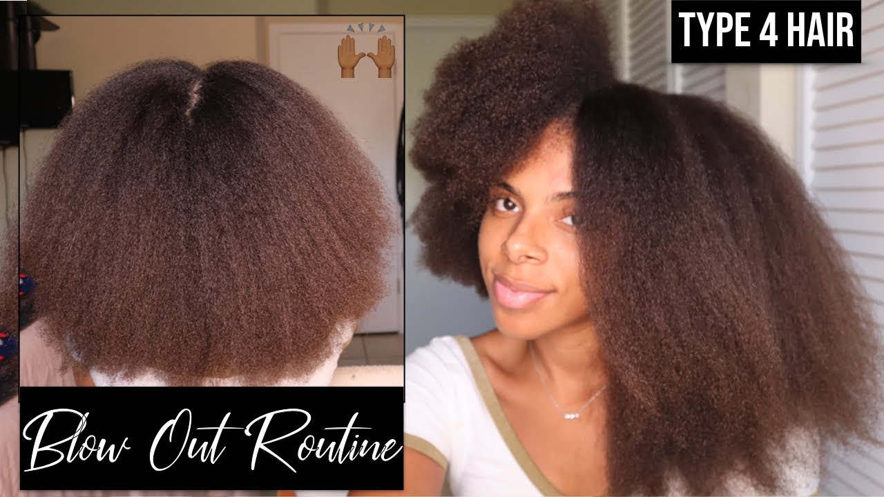 SAFE & SIMPLE Blow Out Routine for Type 4 Hair | Length & Volume Showing Outtt 😍