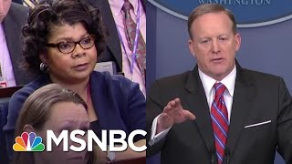 Sean Spicer Battles With Veteran Reporter April Ryan In Explosive Briefing | The 11th Hour | MSNBC