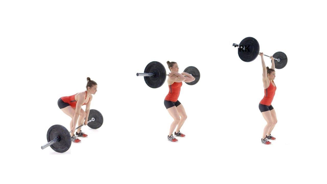Clean /& Jerk GO HEAVY Damen Sport Fitness Gym T-Shirt