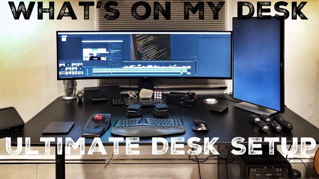 - Whats On MY Desk Tour - Ultimate Full Stack Developer Desk Setup