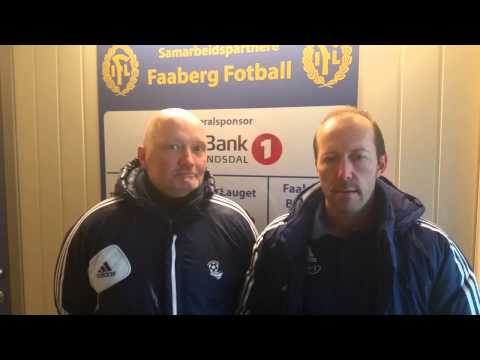 Post-match Faaberg -