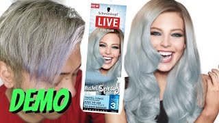Schwarzkopf Live Colour Pastel Colour Icy Blue | ThePopHeir | How To