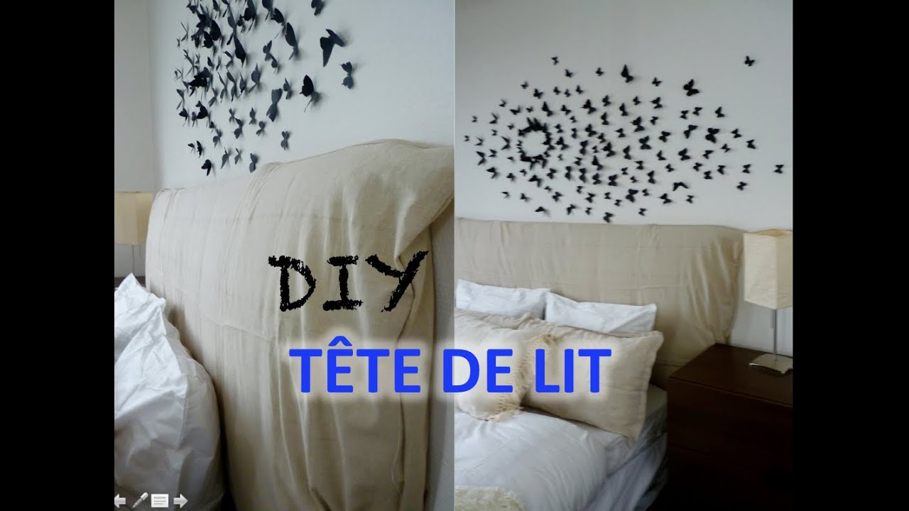 diy t te de lit facile faire soi m me headboard tutorial youtube. Black Bedroom Furniture Sets. Home Design Ideas
