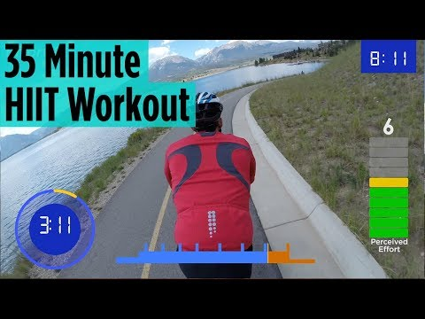 35 Minute Indoor Cycling HIIT Workout | Colorado
