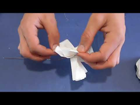 How To made Tissue Paper Flower