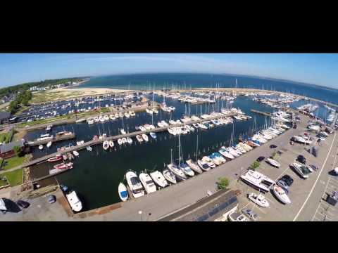 Aerial video of Helsingør