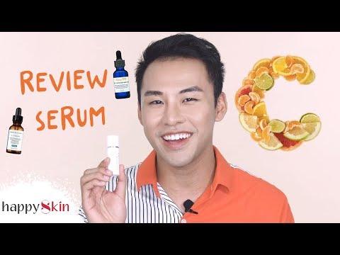"""Review 9 SERUM VITAMIN C trị thâm, làm sáng da """"đình đám""""! 🍊   Happy Skin"""