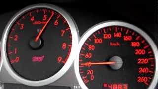 インプレッサのフル加速。0~100km/h。