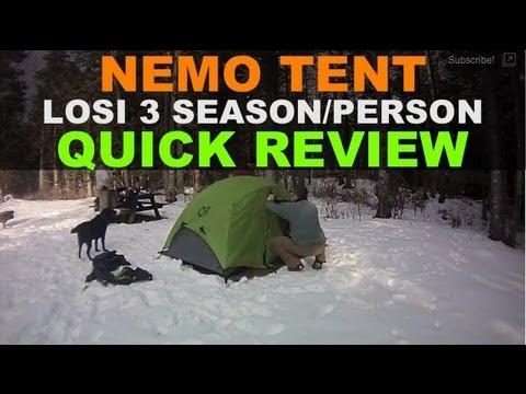 Nemo Equipment Losi 2 Person ...  sc 1 st  YouTube & Nemo Equipment Losi 2 Person - 3 Season Tent Setup u0026 Quick Review ...