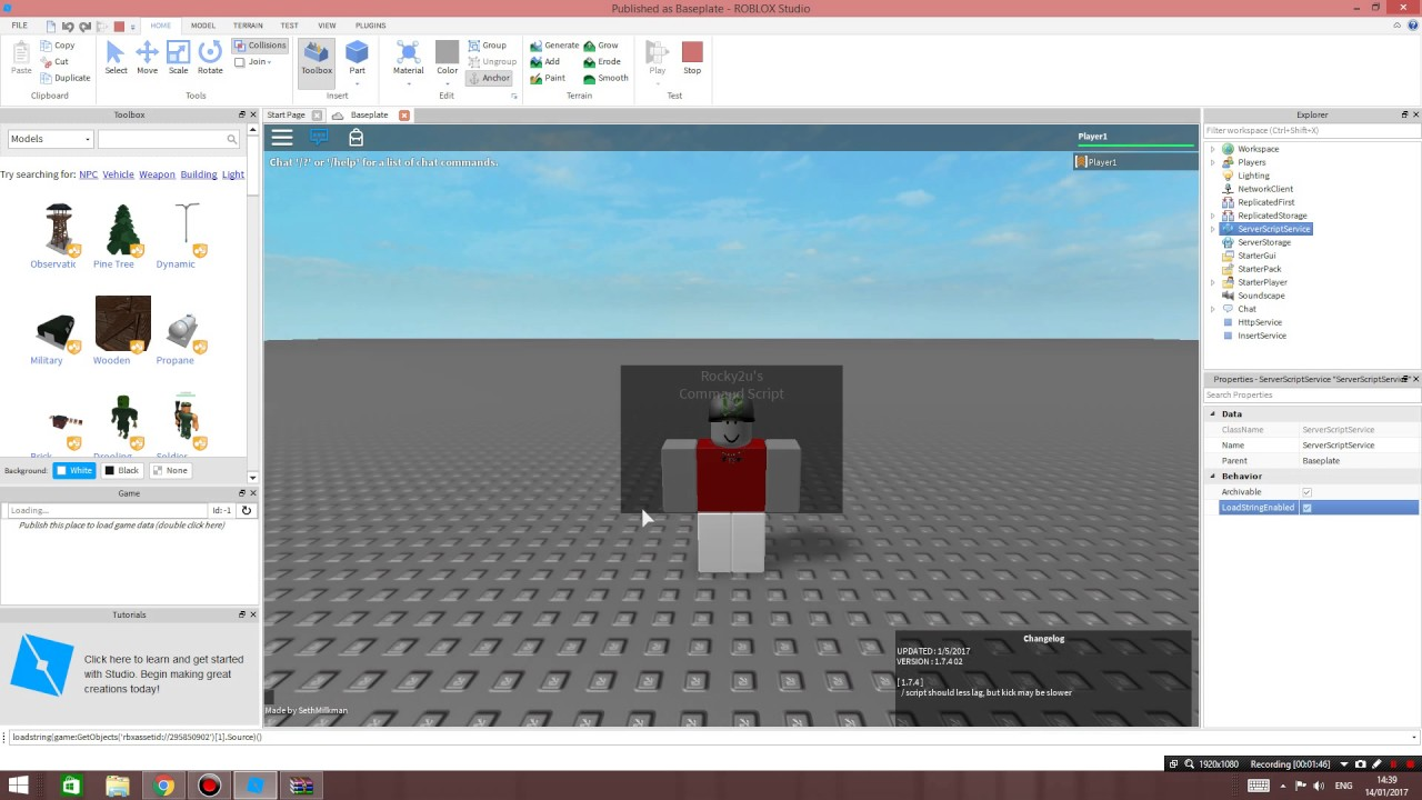 Roblox Tutorial How To Execute Scripts Loadstrings On Studio