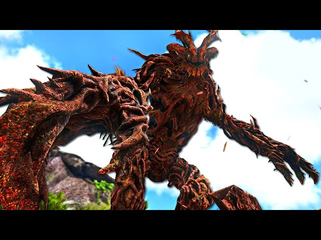 The BRUTAL FOREST TITAN is CRAZY!   ARK O-MEGA Modded #64