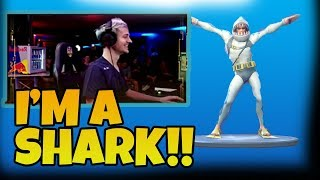 NINJA REACTS TO *LEGENDARY* CHOMP SR. SKIN IN FORTNITE - FORTNITE HILARIOUS AND *EPIC* MOMENTS