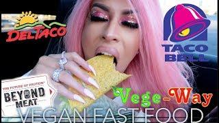 VEGAN FAST FOOD MUKBANG (EPIC EATING SHOW) | TYMETHEINFAMOUS