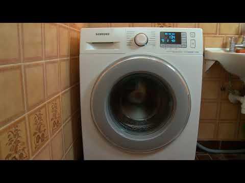 Samsung washing machine eco drum clean program - wash wasching machine demo