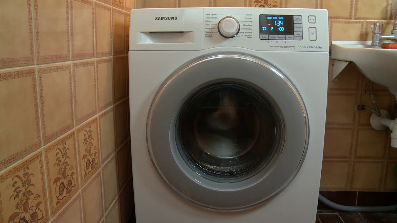 Samsung washing machine eco drum clean program - wash ...