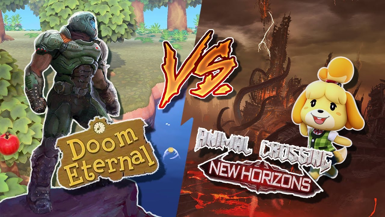 Doom Eternal Vs Animal Crossing Youtube