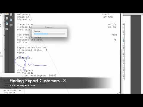 Finding Export Customers 3