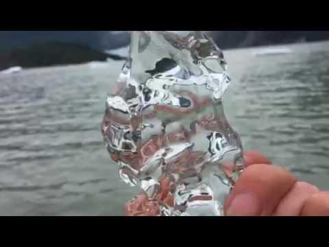 Beautiful glacier ice melting